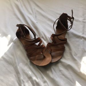 Brown Strappy Leather Sandals